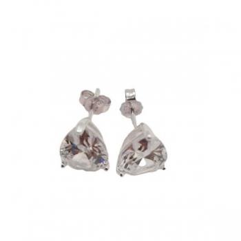 Crystal Teardrop Stud Earrings