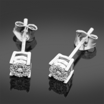 0.05CT Diamond & White Gold Earrings