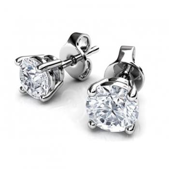 0.5CT Diamond & White Gold Earrings