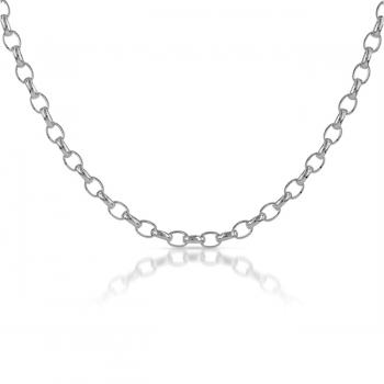 "18"" Sterling Silver Belcher Chain"