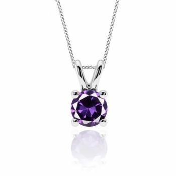 1ct Amethyst Necklace