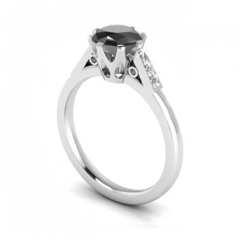 1ct Black & White Diamond Ring