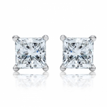 1ct Sterling Silver Studs Made With Swarovski