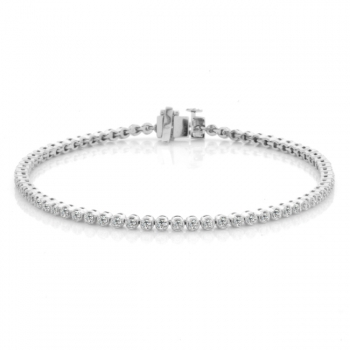 1ct White Gold Diamond Bracelet
