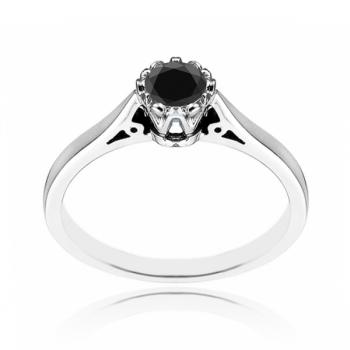 20 Point Black Diamond Ring