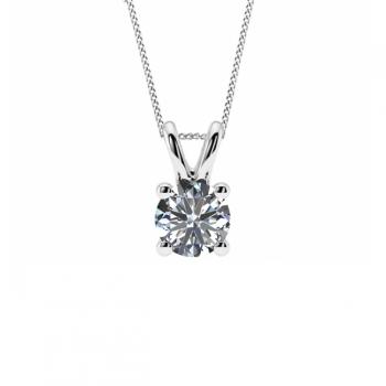 9ct White Gold Quarter Carat Necklace