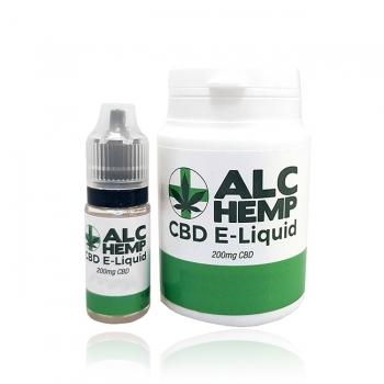 ALC HEMP CBD E Liquid 200mg- Rhubarb and Custard
