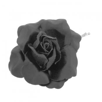 Black Rose Hair Grip