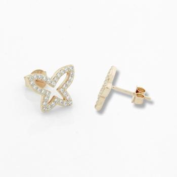 Butterfly Earrings With Diamond.