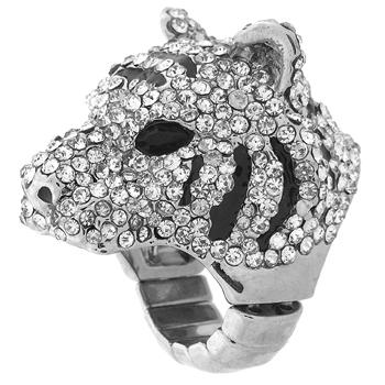 Crystal Expander Ring, Tigers Head, Adjustable-MIG0199, Adjustable