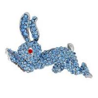 Hare Stoneset Diamante Brooch, MC375