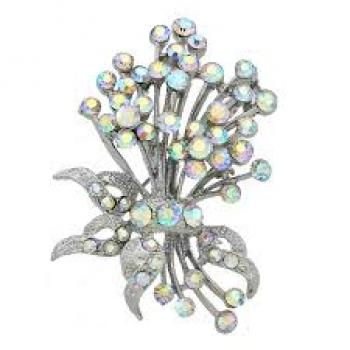 Diamanté Bouquet Brooch