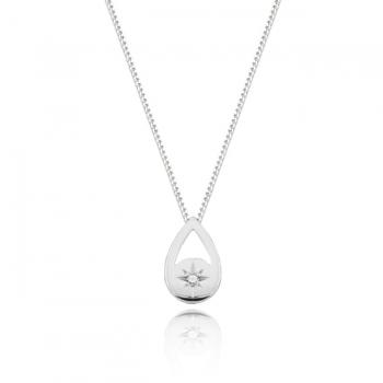 Diamond Tear Drop Necklace