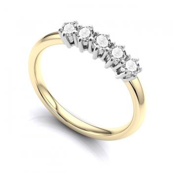 Diamond & 9ct Gold Half Eternity Ring