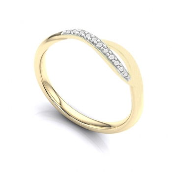 Diamond & 9ct Gold Crossover Ring