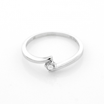 Diamond & 9ct White Gold Ring