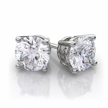 Diamond & 9ct White Gold Earrings - 4 Sizes