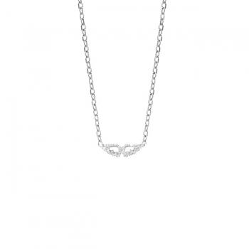 Diamond & CZ Angel Wing Necklace.