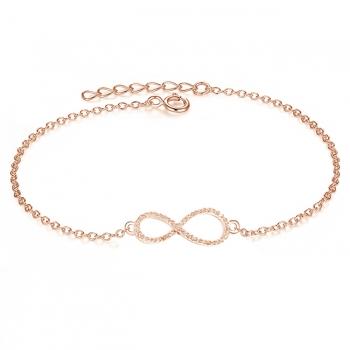 Diamond & CZ Infinity Bracelet.