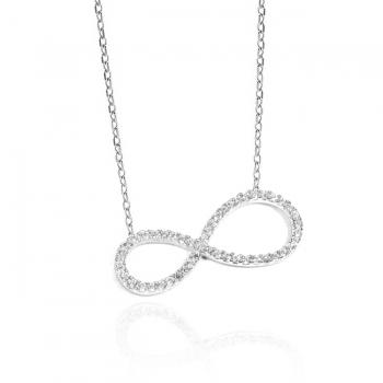 Diamond & CZ Infinity Necklace.