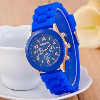 Geneva Blue Gummy Watch