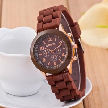 Geneva Brown Gummy Watch
