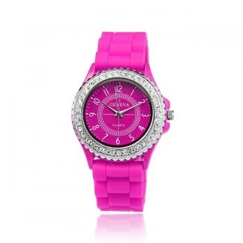 Geneva Crystal Gummy Watch