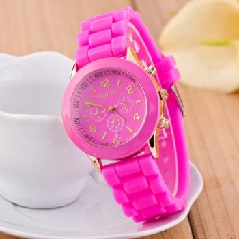 Geneva Pink Gummy Watch