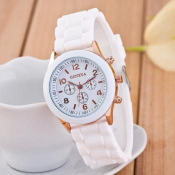 Geneva White Gummy Watch