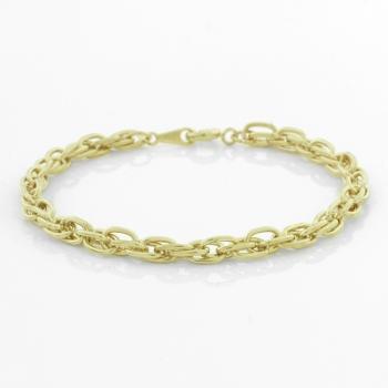 Gold Tone Open Link Bracelet
