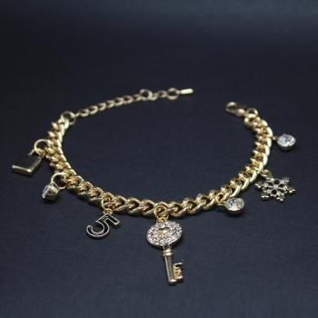 Gold Tone Charm Bracelet