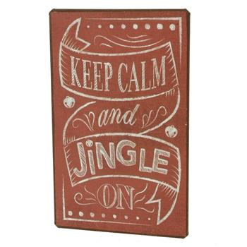 """Keep Calm and Jingle On"" Fridge Magnet"