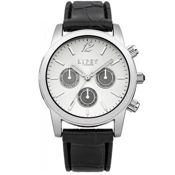 Lipsy Ladie's Quartz Watch, White Analogue Dial, Black Leatherette Strap, LP286