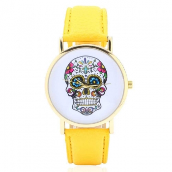 Laides Skull Design Quartz Watch
