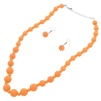 Orange Fashion Necklace Set