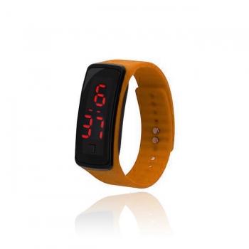 Orange LED Silicone Sports Watch