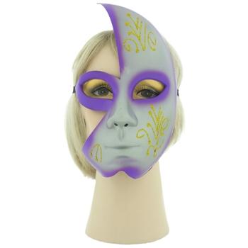 Party/Masquerade Ball Mask, Purple/Grey, Ribbon Tie, BN0284