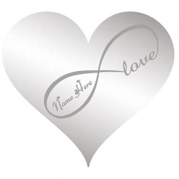 Personalised Adhesive Stainless Steel Heart