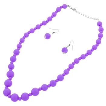 Purple Fashion Necklace Set