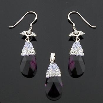 Silver Pendant & Earrings