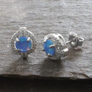 Silver & Opal Earrings