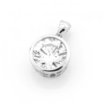 Silver & Zirconia Pendant