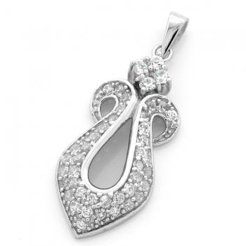 FREE Silver & Zirconia Pendant