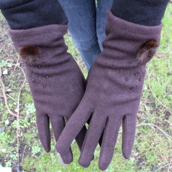 Smart Phone Compatible Ladies Gloves