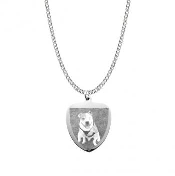 Mens Stainless Steel Shield Pendant