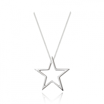 Sterling Silver & Diamond Star