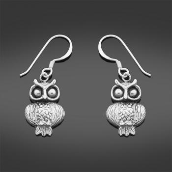 Sterling Silver Owl Earrings