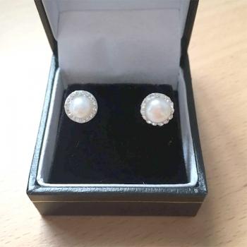FREE Sterling Silver & Faux Pearl Earrings.
