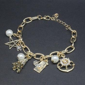Stone Set Charm Bracelet