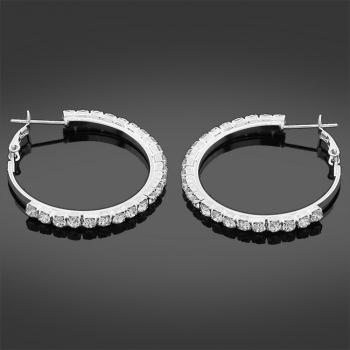 Stoneset Fashion Hoop Earrings